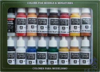 Vallejo Model Color Set 148: American Revolucion (16 colors)