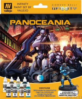 Vallejo Infinity Paint Set 231: PanOceania (8 colors with exclusive minifigure)