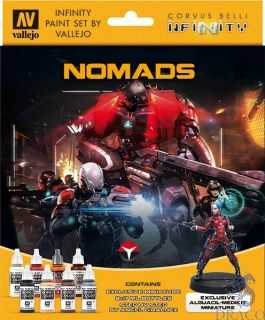Vallejo Infinity Paint Set 233: Nomads (8 colors with exclusive minifigure)