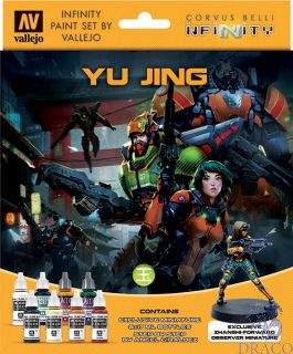 Vallejo Infinity Paint Set 235: Yu Jing (8 colors with exclusive minifigure)