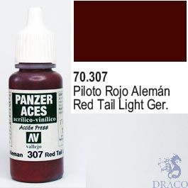 Vallejo Panzer Aces 307: German Red Tail Light 17 ml.