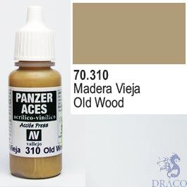 Vallejo Panzer Aces 310: Weathered Wood 17 ml.
