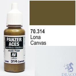 Vallejo Panzer Aces 314: Canvas 17 ml.