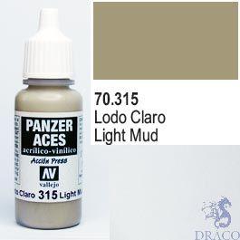 Vallejo Panzer Aces 315: Light Mud 17 ml.