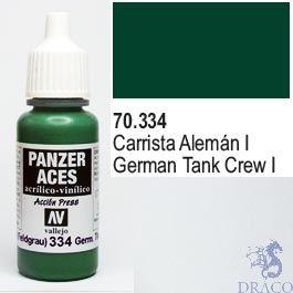 Vallejo Panzer Aces 334: Ger. Tanker (Feldgrau I) 17 ml.