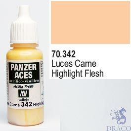 Vallejo Panzer Aces 342: Flesh Highlights 17 ml.