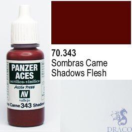 Vallejo Panzer Aces 343: Flesh Shadows 17 ml.