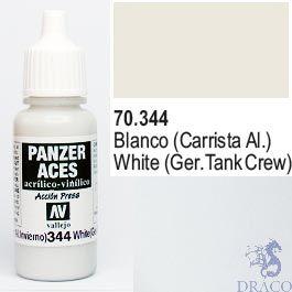 Vallejo Panzer Aces 344: German Tanker (White) 17 ml.