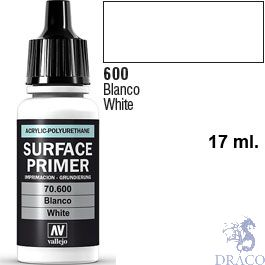 Vallejo Acrylic Polyurethane Primer - White 17 ml.