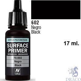 Vallejo Acrylic Polyurethane Primer - Black 17 ml.