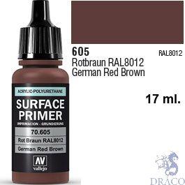 Vallejo Acrylic Polyurethane Primer - German Red Brown 17 ml.