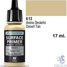 Vallejo Acrylic Polyurethane Primer - Desert Tan 17 ml.