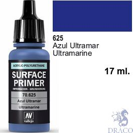 Vallejo Acrylic Polyurethane Primer - Ultramarine 17 ml.