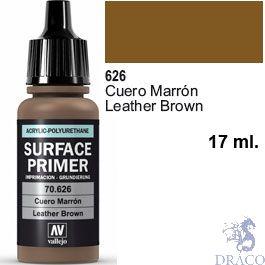 Vallejo Acrylic Polyurethane Primer - Leather Brown 17 ml.