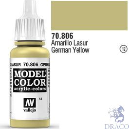 Vallejo 012: Modelcolor 806: German Yellow 17 ml.