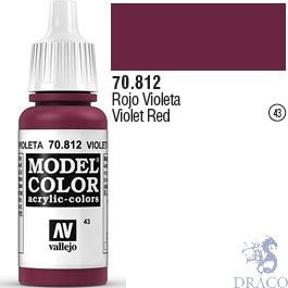Vallejo 043: Modelcolor 812: Violet Red 17 ml.