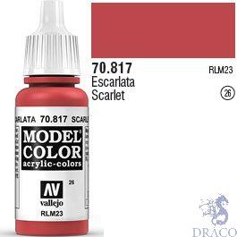 Vallejo 026: Modelcolor 817: Scarlet 17 ml.
