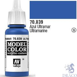 Vallejo 055: Modelcolor 839: Ultramarine 17 ml.