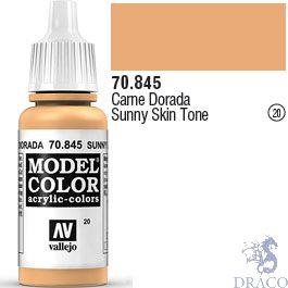 Vallejo 020: Modelcolor 845: Sunny Skin Tone 17 ml.