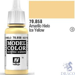 Vallejo 013: Modelcolor 858: Ice Yellow 17 ml.