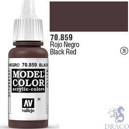 Vallejo 035: Modelcolor 859: Black Red 17 ml.