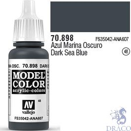 Vallejo 048: Modelcolor 898: Dark Sea Blue 17 ml.