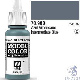 Vallejo 060: Modelcolor 903: Intermediate Blue 17 ml.