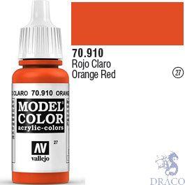 Vallejo 027: Modelcolor 910: Orange Red 17 ml.