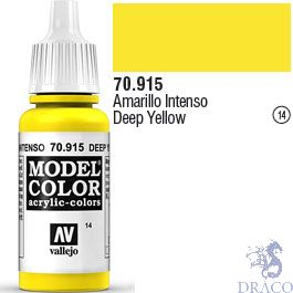 Vallejo 014: Modelcolor 915: Deep Yellow 17 ml.