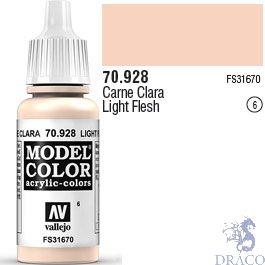 Vallejo 006: Modelcolor 928: Light Flesh 17 ml.