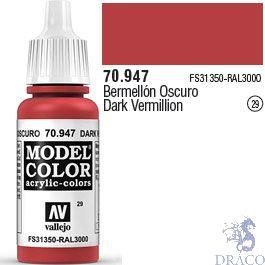 Vallejo 029: Modelcolor 947: Dark Vermillion 17 ml.