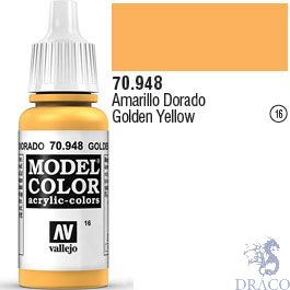 Vallejo 016: Modelcolor 948: Golden Yellow 17 ml.
