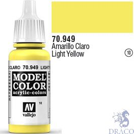 Vallejo 010: Modelcolor 949: Light Yellow 17 ml.