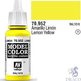 Vallejo 011: Modelcolor 952: Lemon Yellow 17 ml.