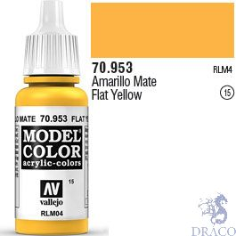 Vallejo 015: Modelcolor 953: Flat Yellow 17 ml.