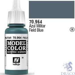 Vallejo 058: Modelcolor 964: Field Blue 17 ml.