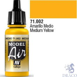 Vallejo Model Air 002: Medium Yellow 17 ml.