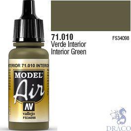 Vallejo Model Air 010: Interior Green 17 ml.