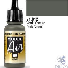 Vallejo Model Air 012: Dark Green 17 ml.