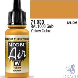 Vallejo Model Air 033: Yellow Ochre 17 ml.