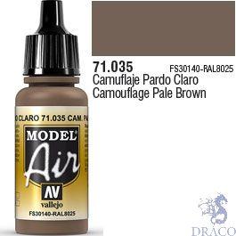 Vallejo Model Air 035: Camouflage Pale Brown 17 ml.