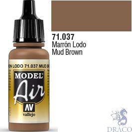 Vallejo Model Air 037: Mud Brown 17 ml.