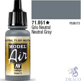 Vallejo Model Air 051: Neutral Gray 17 ml.