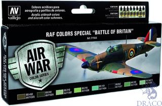 Vallejo Model Air Set 144: RAF Colors Special Battle Of Britain (8 colors)
