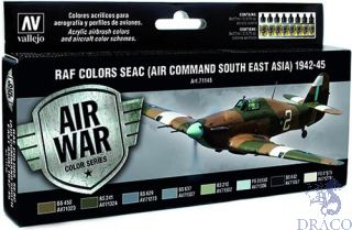 Vallejo Model Air Set 146: Colors Seac (Air Command South East Asia) 1942-1945 (8 colors)