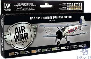 Vallejo Model Air Set 149: RAF Day Fighters Pre-War To 1941 (8 colors)