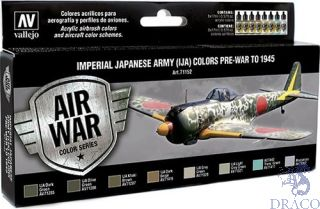 Vallejo Model Air Set 152: Imperial Japanese Army (IJA) Colors (8 colors)