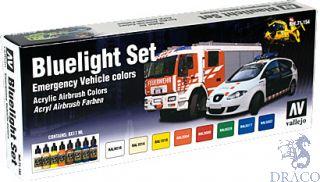 Vallejo Model Air Set 154: Bluelight Set (8 colors)