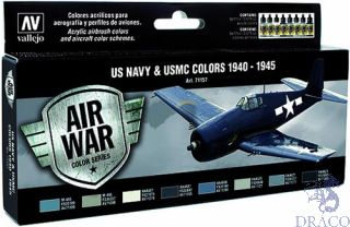 Vallejo Model Air Set 157: US NAVY & USMC Colors WWII 1940-1945 (8 colors)