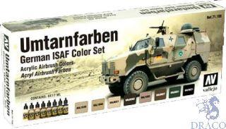 Vallejo Model Air Set 159: German ISAF Color Set (8 colors)